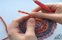 فیلم آموزش بافت پایه شلال (وصل انتهای رج به دانه اول برای گردبافی)