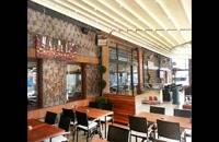 سقف تاشو کافه رستوران-سایبان اتوماتیک سالن غذاخوری-سقف جمعشو تراس رستوران