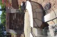 اجرای سنگ لاشه اجرای سنگ مالون آبنما و آبشار باربیکیو آتشکده باسنگهای مالون لاشه 09124026545