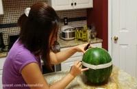 طرز تهیه سبد میوه با هندوانه - مخصوص شب یلدا