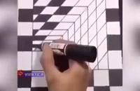 ایده طراحی نقاشی به صورت سه بعدی