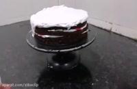 طرز تهیه ویدیوی مدل کیک های خامه ای تازه