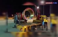 نصب و ورود تونل های ضدعفونی برای مسابقه فولاد - استقلال