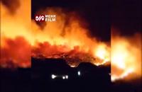 آتش سوزی وحشتناک در ایالت یوتا آمریکا