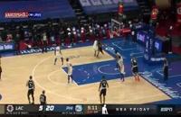 خلاصه بازی بسکتبال لس آنجلس کلیپرز - فیلادلفیاسیکسرز