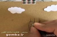 نحوه ساخت کاردستی نقاشی بالن کودکانه