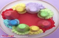 تزئین زیباترین کیک های رنگین کمانی