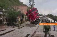 حادثه - خارج شدن قطار از ریل در مکزیک