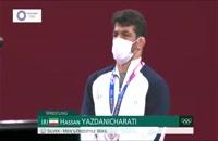 اهدای مدال نقره - حسن یزدانی
