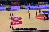خلاصه بازی بسکتبال ایران - عربستان