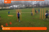آموزش فوتبال به کودکان - تمرینات هماهنگی بدن و عبور از بین موانع