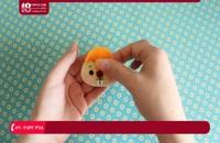 آموزش نحوه دوخت جا کلیدی عروسک سنجاب با نمد