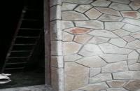 اجرای سنگ مالون سنگ لاشه نمای دیوار 09124026545
