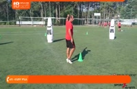 آموزش فوتبال به کودکان-آموزش حرکت با توپ و دریبل