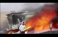 انفجار تریلر حامل مواد نفتی در شاهرود