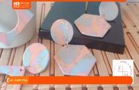 آموزش زیورآلات خمیری -آموزش ساخت گوشواره با زرورق طلایی