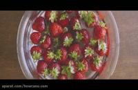 بهترین و آسان ترین روش درست کردن بستنی توت فرنگی