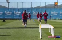 تمرینات امروز تیم بارسلونا