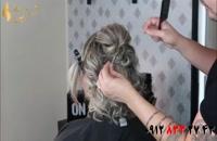 فیلم آموزش شینیون شلوغ مو مناسب مو کوتاه