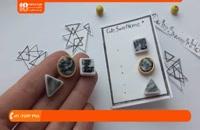 آموزش ساخت زیورآلات   زیورآلات خمیری   زیورآلات دست ساز (گوشواره بخیه ای)