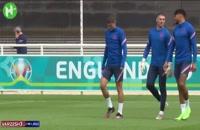 تمرینات تیم انگلیس برای فینال یورو 2020