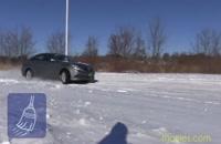 تست رانندگی هیوندای سوناتا در جاده برفی