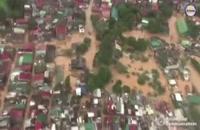 رییس جمهور فیلیپین به صورت هوایی از مناطق سیل زده بازدید کرد