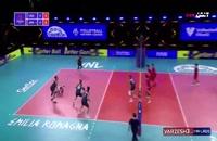 خلاصه بازی والیبال امریکا - ژاپن