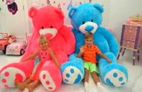 عروسک بازی دیانا با خرس تدی