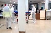 فیلم| عملیات ویژه انتقال بیمار کرونایی به بیمارستان
