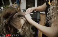 فیلم آموزش شینیون مو نیمه باز + فر و موج دار کردن مو