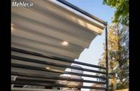 سقف جمعشونده رستوران-سایبان تمام برقی فست فود-پوشش جمع شونده حیاط رستوران-سقف تاشو فود کورت/09380039293