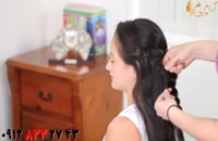 کلیپ آموزش بستن مو مدل گل با بافت + بافت جدید مو