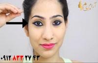 فیلم آموزش کشیدن خط چشم دو رنگ در چهار مرحله