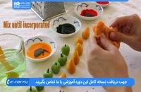 دیزاین روی کیک با میوه های تزیینی