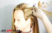 کلیپ آرایش مو با بافت یکطرفه + مدل مو ساده