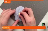 آموزش جواهر دوزی | مروارید دوزی | سرمه دوزی (سنجاق سینه طرح ستاره)