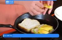 آموزش آشپزی - ساندویچ پنیر کبابی
