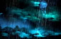 ویدیو فوتیج بارش باران همراه با رعد و برق
