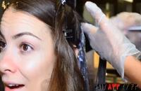 دانلود فیلم آموزش هایلایت کردن مو با رنگ پلاتینی