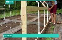 آموزش ساخت گلخانه با چوب و پلاستیک برای نوردهی بیشتر