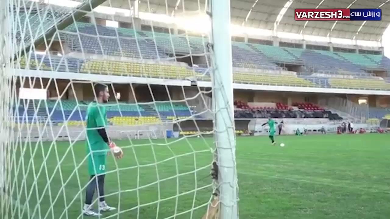 چالش ضربه ایستگاهی در تمرینات تیم فوتبال پرسپولیس