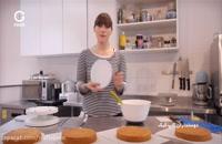 آموزش خامه زدن و تزیین کیک با خامه