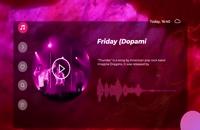 موزیک اکولایزر Virtual music visualizer