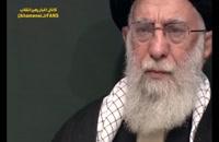 اشک های رهبر انقلاب در فراق سردار سلیمانی در مراسم فاطمیه