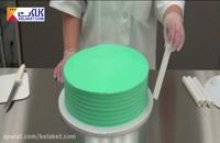 چگونه کیک ۳ طبقه ای درست کنیم