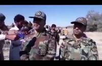 حضور فرماندهان سپاه و ارتش در مناطق سیل زده