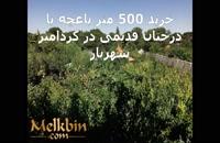 500 متر باغچه ی مشجر بسیار زیبا در کردامیر شهریار