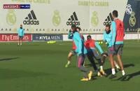 درخشش هازارد در تمرین تیم رئال مادرید