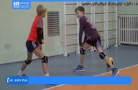 تمرین با هدف دریافت سرویس در ورزش والیبال